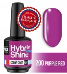 Lakier hybrydowy Hybrid Shine System - Color UV/LED - 2/200 PURPLE RED