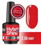 Lakier hybrydowy Hybrid Shine System - Color UV/LED - 2/05 RUBY