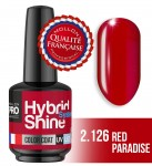 Lakier hybrydowy Hybrid Shine System - Color UV/LED - 2/126 RED PARADISE