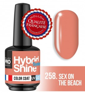 Lakier hybrydowy Hybrid Shine System - Color UV/LED - 258 Sex on the Beach