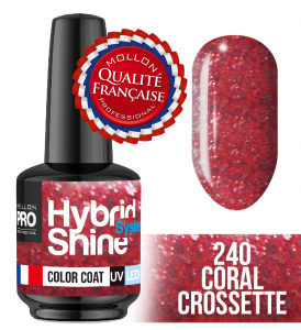 Lakier hybrydowy Hybrid Shine System - Color UV/LED - 240 Coral Crossette