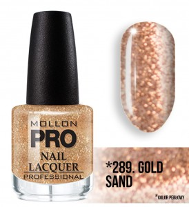 Hardening Nail Lacquer Mollon PRO nr 289 Gold sand