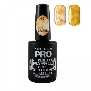 MARBLE DROP płyn koloryzujący Nail Art Liquid 10ml  - 02 Orange - Mollon PRO