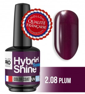 Lakier hybrydowy Hybrid Shine System - Color UV/LED - 2/08 PLUM