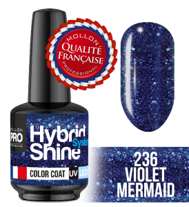 Lakier hybrydowy Hybrid Shine System - Color UV/LED - 236 Violet Mermaid