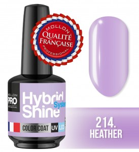 Lakier hybrydowy Hybrid Shine System - Color UV/LED - 214 Heather