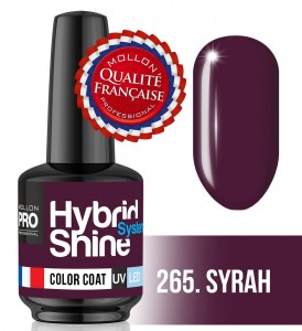 Lakier hybrydowy Hybrid Shine System - Color UV/LED - 265 Syrah