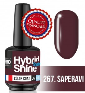 Lakier hybrydowy Hybrid Shine System - Color UV/LED - 267 Saperavi