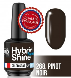 Lakier hybrydowy Hybrid Shine System - Color UV/LED - 268 Pinot Noir