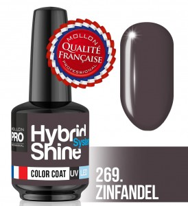 Lakier hybrydowy Hybrid Shine System - Color UV/LED - 269 Zinfandel