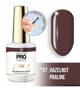 37. HAZELNUT PRALINE LUXURY GEL POLISH COLOR COAT - HYBRYDA ŻELOWA UV/LED Mollon PRO 8ml