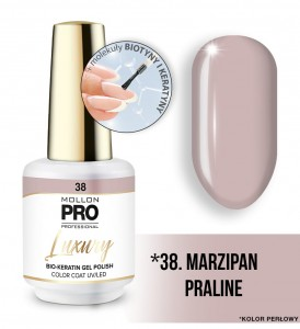 38. MARZIPAN PRALINE LUXURY GEL POLISH COLOR COAT - HYBRYDA ŻELOWA UV/LED Mollon PRO 8ml