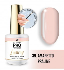 39. AMARETTO PRALINE LUXURY GEL POLISH COLOR COAT - HYBRYDA ŻELOWA UV/LED Mollon PRO 8ml