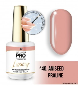 40. ANISEED PRALINE LUXURY GEL POLISH COLOR COAT - HYBRYDA ŻELOWA UV/LED Mollon PRO 8ml