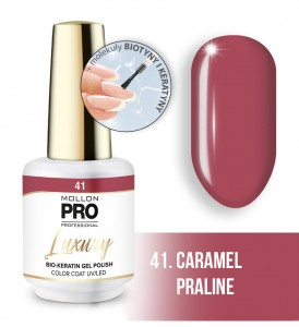 41. CARAMEL PRALINE LUXURY GEL POLISH COLOR COAT - HYBRYDA ŻELOWA UV/LED Mollon PRO 8ml