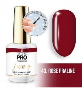 43. ROSE PRALINE LUXURY GEL POLISH COLOR COAT - HYBRYDA ŻELOWA UV/LED Mollon PRO 8ml