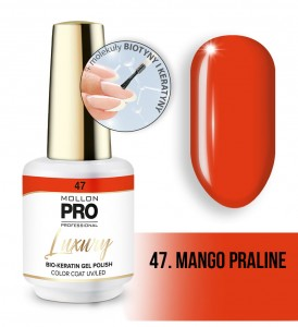 47. MANGO PRALINE LUXURY GEL POLISH COLOR COAT - HYBRYDA ŻELOWA UV/LED Mollon PRO 8ml