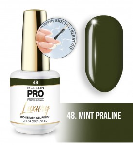 48. MINT PRALINE LUXURY GEL POLISH COLOR COAT - HYBRYDA ŻELOWA UV/LED Mollon PRO 8ml