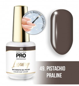 49. PISTACHIO PRALINE LUXURY GEL POLISH COLOR COAT - HYBRYDA ŻELOWA UV/LED Mollon PRO 8ml