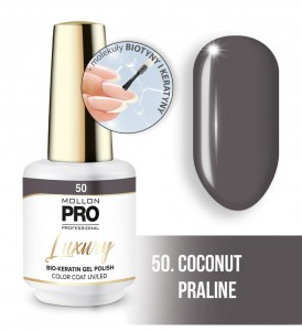 50. COCONUT PRALINE LUXURY GEL POLISH COLOR COAT - HYBRYDA ŻELOWA UV/LED Mollon PRO 8ml