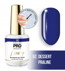 52. DESSERT PRALINE LUXURY GEL POLISH COLOR COAT - HYBRYDA ŻELOWA UV/LED Mollon PRO 8ml