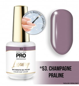 53. CHAMPAGNE PRALINE LUXURY GEL POLISH COLOR COAT - HYBRYDA ŻELOWA UV/LED Mollon PRO 8ml