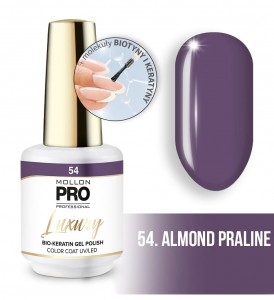 54. ALMOND PRALINE LUXURY GEL POLISH COLOR COAT - HYBRYDA ŻELOWA UV/LED Mollon PRO 8ml