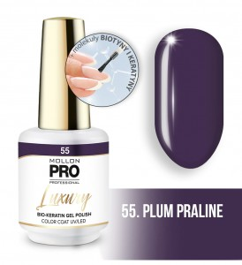 55. PLUM PRALINE LUXURY GEL POLISH COLOR COAT - HYBRYDA ŻELOWA UV/LED Mollon PRO 8ml