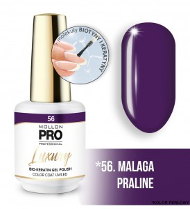 56. MALAGA PRALINE LUXURY GEL POLISH COLOR COAT - HYBRYDA ŻELOWA UV/LED Mollon PRO 8ml