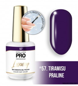 57. TIRAMISU PRALINE LUXURY GEL POLISH COLOR COAT - HYBRYDA ŻELOWA UV/LED Mollon PRO 8ml