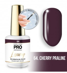 64. CHERRY PRALINE LUXURY GEL POLISH COLOR COAT - HYBRYDA ŻELOWA UV/LED Mollon PRO 8ml