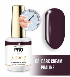 65. DARK CREAM PRALINE LUXURY GEL POLISH COLOR COAT - HYBRYDA ŻELOWA UV/LED Mollon PRO 8ml