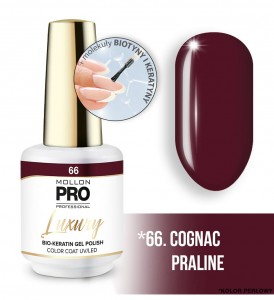 66. COGNAC PRALINE LUXURY GEL POLISH COLOR COAT - HYBRYDA ŻELOWA UV/LED Mollon PRO 8ml