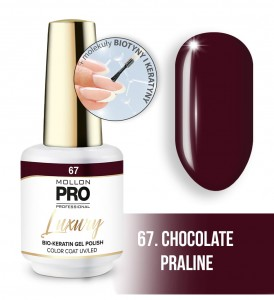 67. CHOCOLATE PRALINE LUXURY GEL POLISH COLOR COAT - HYBRYDA ŻELOWA UV/LED Mollon PRO 8ml