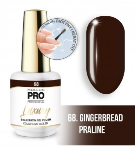 68. GINGERBREAD PRALINE LUXURY GEL POLISH COLOR COAT - HYBRYDA ŻELOWA UV/LED Mollon PRO 8ml