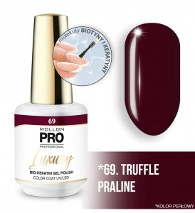 69. TRUFFLE PRALINE LUXURY GEL POLISH COLOR COAT - HYBRYDA ŻELOWA UV/LED Mollon PRO 8ml