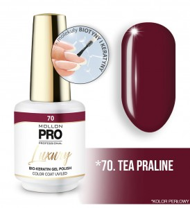 70. TEA PRALINE LUXURY GEL POLISH COLOR COAT - HYBRYDA ŻELOWA UV/LED Mollon PRO 8ml