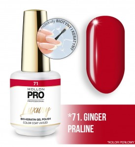 71. GINGER PRALINE LUXURY GEL POLISH COLOR COAT - HYBRYDA ŻELOWA UV/LED Mollon PRO 8ml