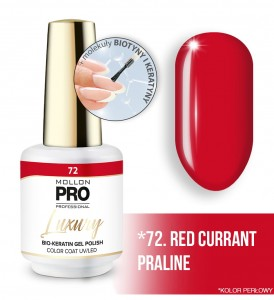 72. RED CURRANT PRALINE LUXURY GEL POLISH COLOR COAT - HYBRYDA ŻELOWA UV/LED Mollon PRO 8ml