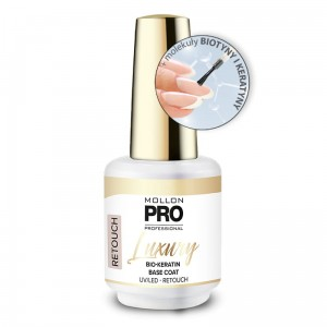 LUXURY BIO-KERATIN BASE COAT UV/LED - RETOUCH - Mollon PRO 8ml