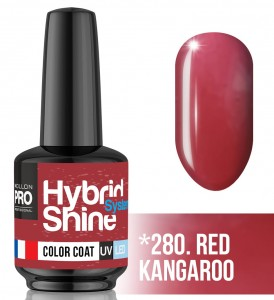 Lakier hybrydowy Hybrid Shine System - Color UV/LED - 280. RED KANGAROO