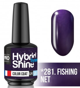 Lakier hybrydowy Hybrid Shine System - Color UV/LED - 281. FISHING NET