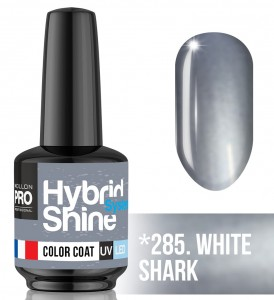 Lakier hybrydowy Hybrid Shine System - Color UV/LED - 285. WHITE SHARK