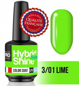 Lakier hybrydowy Hybrid Shine System - Color UV/LED - 3/01 Lime