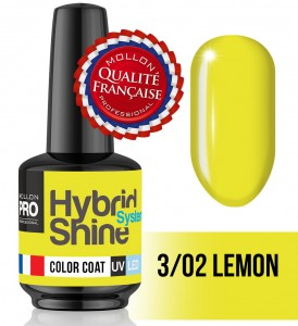 Lakier hybrydowy Hybrid Shine System - Color UV/LED - 3/02 Lemon