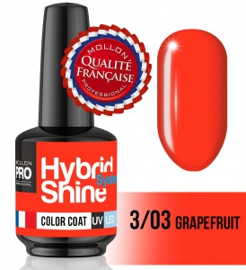 Lakier hybrydowy Hybrid Shine System - Color UV/LED - 3/03 Grapefruit