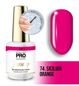 74. SICILIAN ORANGE LUXURY GEL POLISH COLOR COAT - HYBRYDA ŻELOWA UV/LED Mollon PRO 8ml