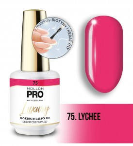 75. LYCHEE LUXURY GEL POLISH COLOR COAT - HYBRYDA ŻELOWA UV/LED Mollon PRO 8ml