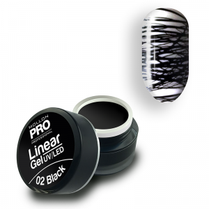 02. BLACK - Linear Gel UV/LED - Mollon PRO