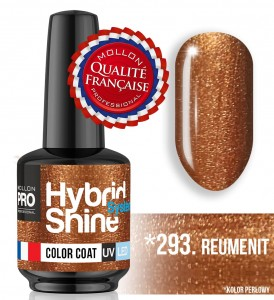 Lakier hybrydowy Hybrid Shine System - Color UV/LED - 293 Reumenit